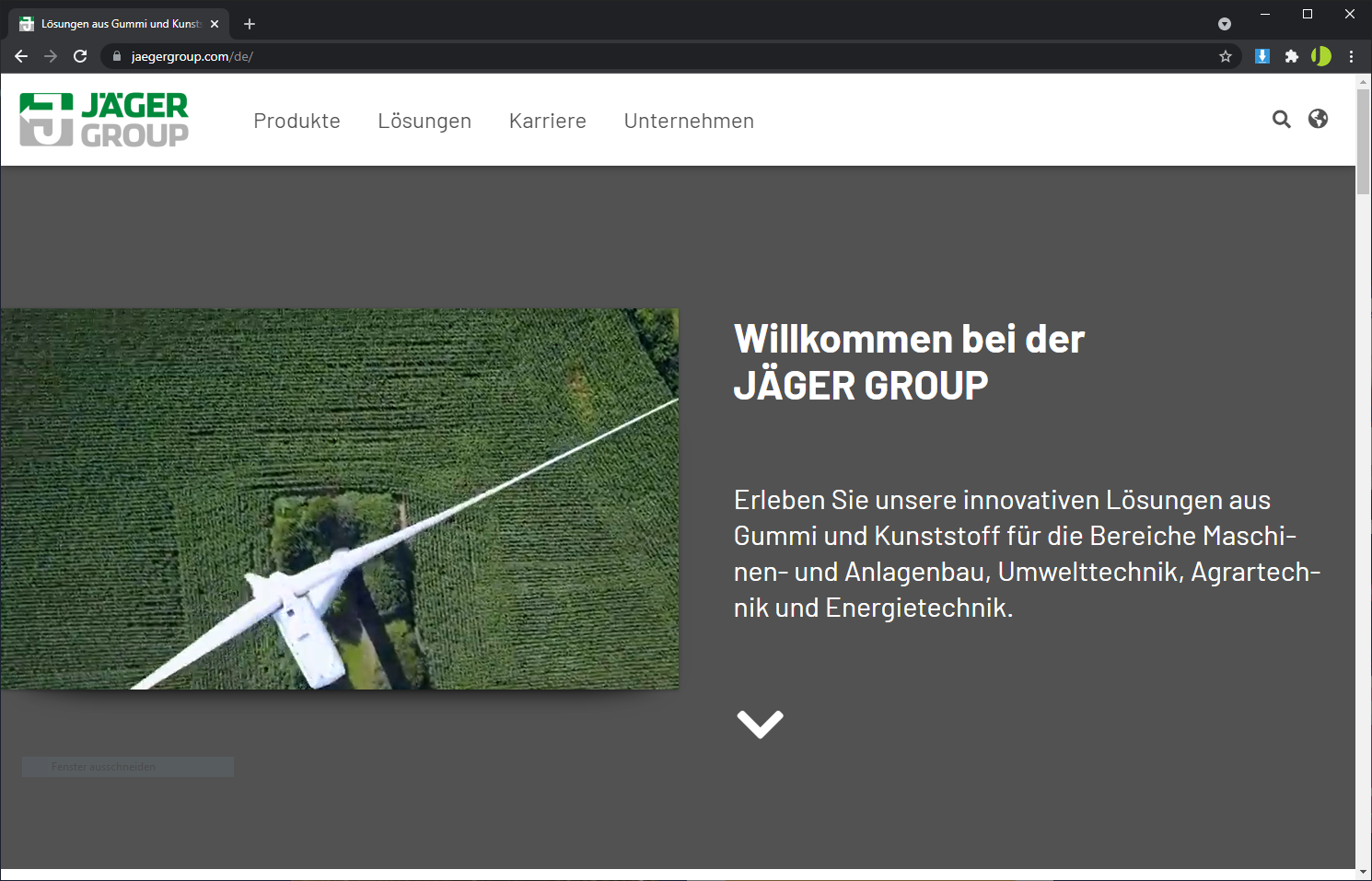 Homepage Erstellung mit WordPress - Jägergroup