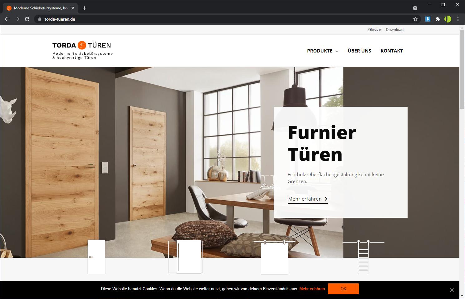Homepage Erstellung mit WordPress - Torda Türen