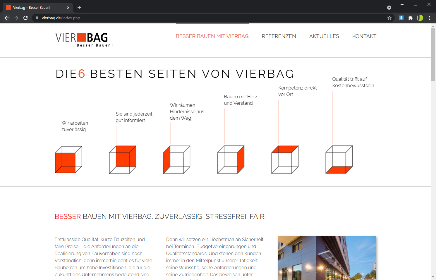 Homepage Erstellung mit WordPress - Vierbag GmbH